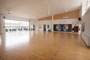 The large and bright hall at St Francis Xavier's Catholic Primary School Lurnea